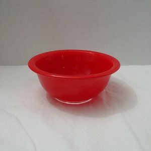 Vintage Pyrex Red with Clear Bottom 322 1L